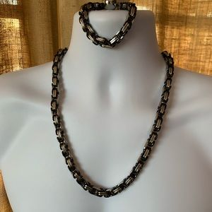 Other - Black & Silver Stainless Steel Necklace & Bracelet